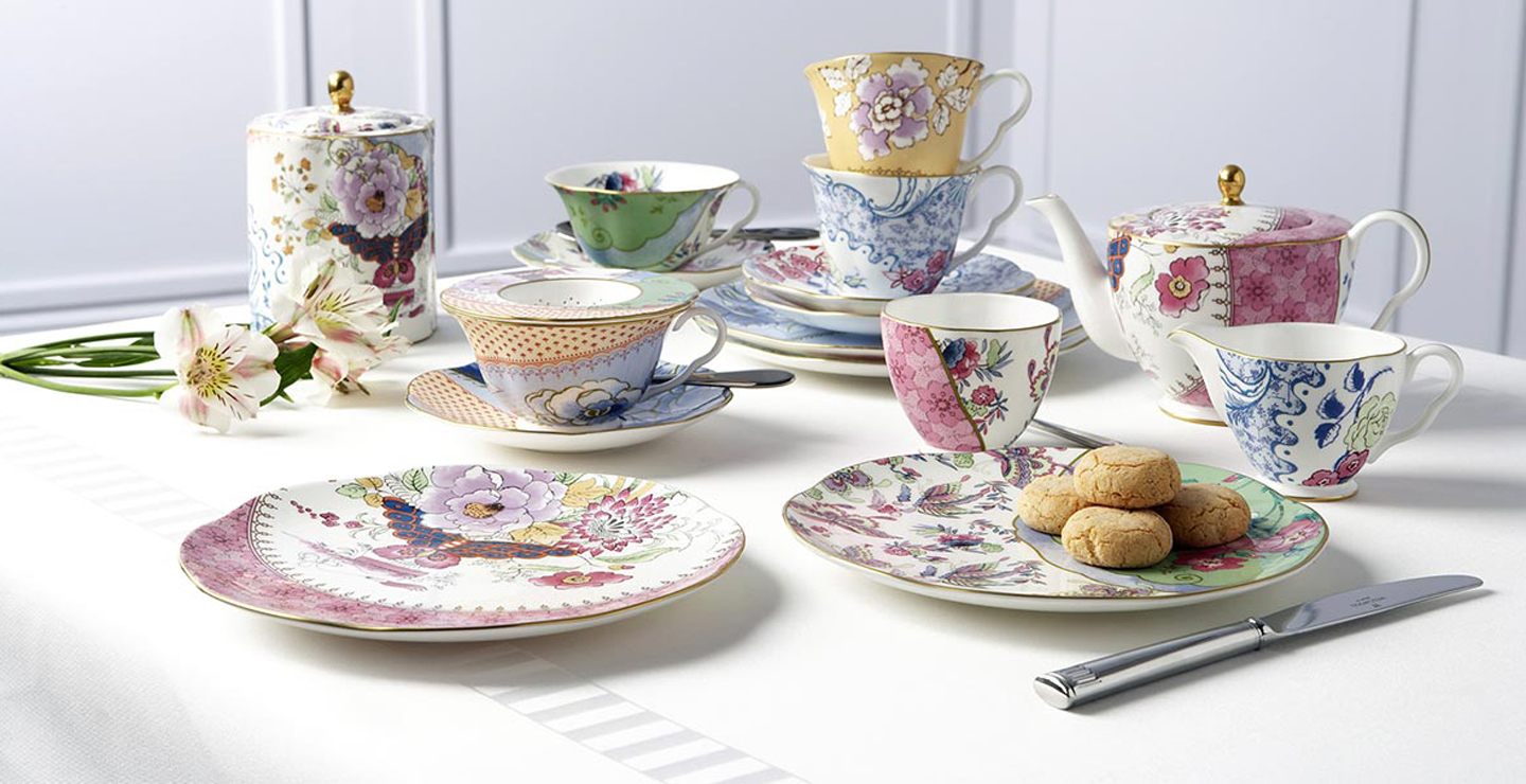 <h1>Butterfly Bloom Teaset and Accessories By Wedgwood</h1>
